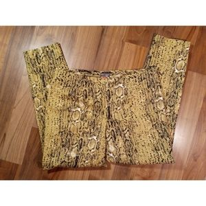 Vince Camuto snake print ankle cropped pants